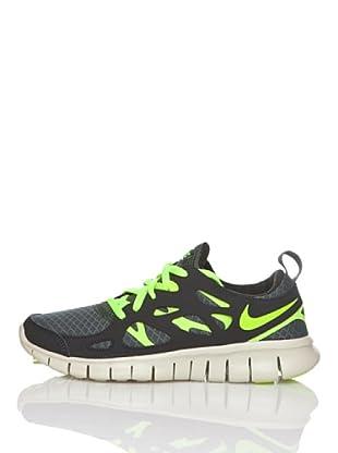 Nike Zapatillas Running Nike Free Run 2 (Gs) (Gris / Amarillo)