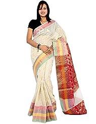 Bunkar Banarasi Ethnic Net Saree With Blouse Piece_999 A-RUST
