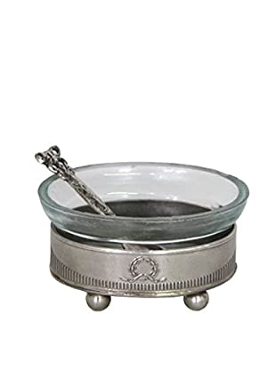Blue Ocean Traders Salt Cellar With Spoon, Silver