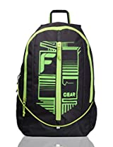 F Gear Frission Black Green Laptop Backpack