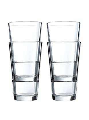 Arc International Set of 4 Stack Up 16-Oz. Hi-Ball Glasses
