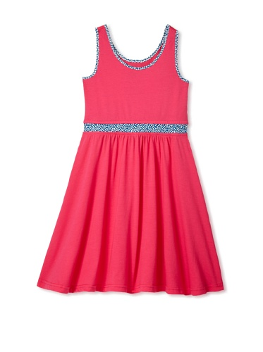 Soft Clothing Girl's Carla Tank Dress (Snap Dragon Pink)