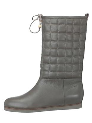 flip flop Botas Acolchadas Piel Quilt (gris)