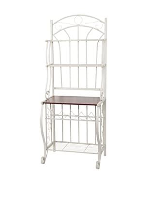Old Dutch Baker's Rack with Wine Rack, RTA (Linen White)