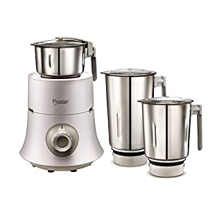Prestige Teon 750-Watt Mixer Grinder with 3 Stainless Steel Jars