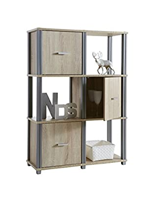 Office Ideas Bücherregal natur 112 x 79 x 29,5 cm