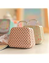 Cute Vintage Portable Handbag Mini Purse Tin Case Pouch Box For Jwellery,Coin Candy Box,Earphone Pouch Case creative wedding Favor Boxes gift Case Pouch For Earphone Jwellery Coins Memorycards