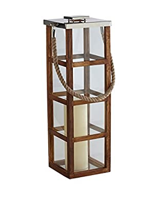 Sidney Marcus Linea Lantern (Polished Nickel/Wood)