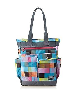 Chiemsee Schultertasche Shopper blau/pink/gelb one size