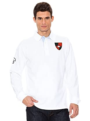 Bloom Polo Piquet Original Manga Larga (Blanco)