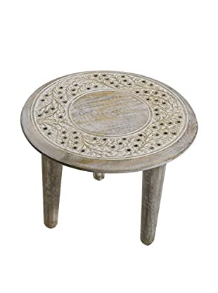 Small Rajasthan Table, Off-White