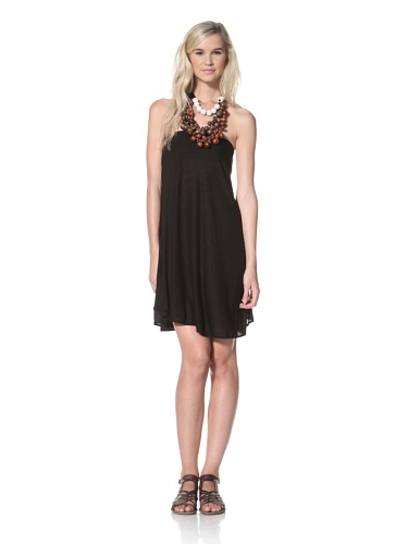 TBags Los Angeles Women's Strapless Dress (Black)