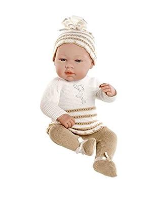 Elegance - Muñeco Real Baby, con elementos Swarovski, 42 cm, color beige (Muñecas Arias 95005)