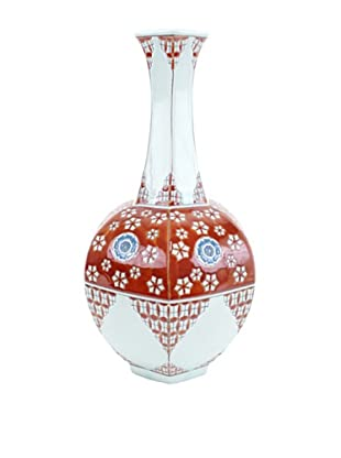 Achoura Vase, Light Blue/Red