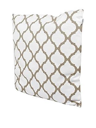 Glam Home Cojín Amir 60 x 60 cm Blanco / Taupe