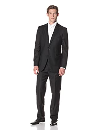 Joseph Abboud Men's Hudson Fit Solid 2-Button Suit (Black)