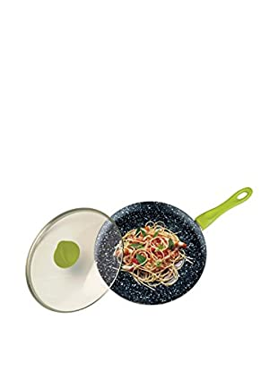 Mepra Fantasia Pietra Wok with a Lid, Olive