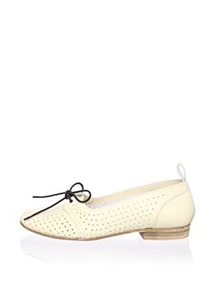 Swedish Hasbeens Women's Perforated Flat (White)