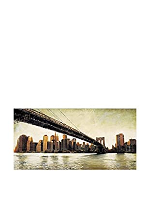 ArtopWeb Panel de Madera Matthew Daniels Brooklyn Bridge View 100x50 cm
