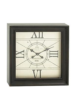 Square Metal Wall Clock, Black