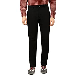 Louis Philippe Black Casual Ultra Slim Cotton Chinos