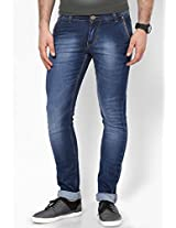 Fungus Men's Denim Slim Fit Jeans (Fjd-019-30 _Blue _30)