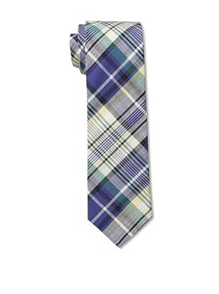 Gitman Blue Men's Plaid Tie, Blue Multi