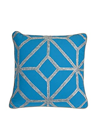 Blue And Gray Diamond Pillow