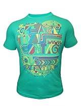 Peter England Rain Green T-Shirt