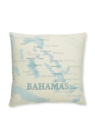 Tommy Bahama Island Map Print Pillow (Aqua)
