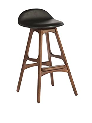 Aeon Euro Home Collection Torbin-2 Bar Stool, Black/Walnut