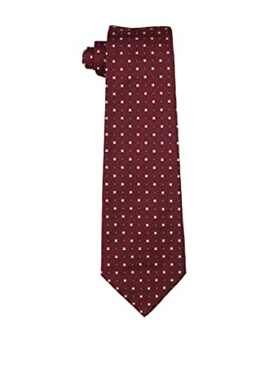 Valentino Men's Square Tie, Wine/Cream