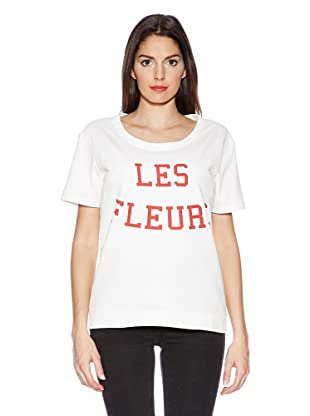 Selected Femme T-Shirt Fleurs (weiß)