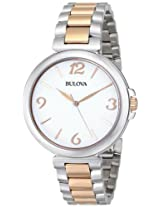 Bulova Classic Analog White Dial Women's Watch - 98L195