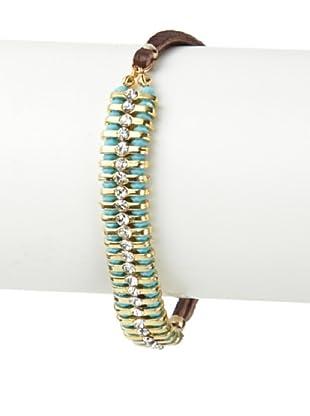 Shashi Turquoise Swarovski Delicate 1-Row Bracelet