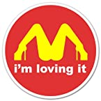 I'M Loving It McDonald's Funny car bumper sticker window decal 4 x 4