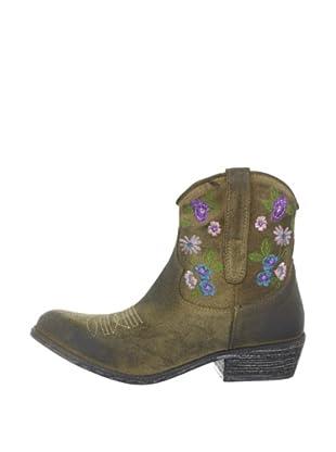 Buffalo 1229 washed velvet 139154 - Botas fashion de cuero para mujer (Marrón)