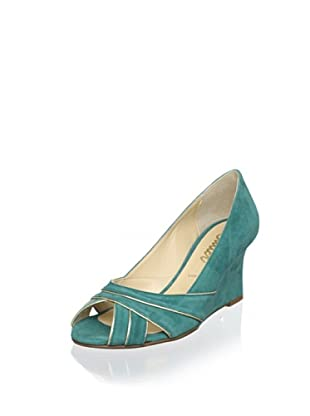 Butter Women's Patticakes Trimmed Wedge (Peacock)