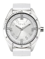 FCUK Women's FC1084SS Over-Sized Round White Watch