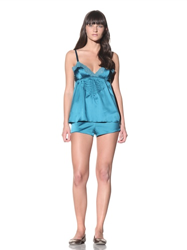 MARNI Women's Lace-Trimmed Camisole (Mosaic Blue)