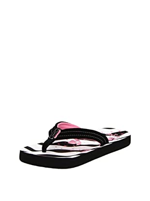 Reef Chanclas Toddler (Blanco/Negro/Rosa)