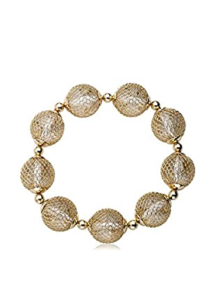 Riccova Country Chic Mesh Over Lucite Stretch Bracelet, Gold