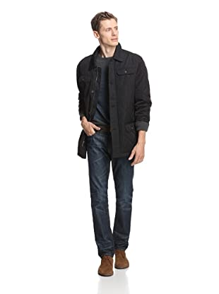 Alex Cannon Men's Quilted Barn Coat (Black)