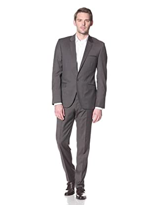 Calvin Klein Collection Men's Crosby One Button Notch Suit (Light Pastel Brown)