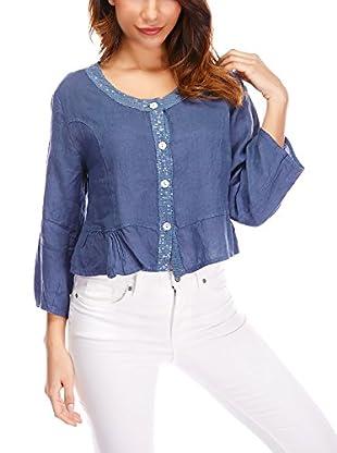 100% Lino by Bleu Marine Camisa Mujer Anna