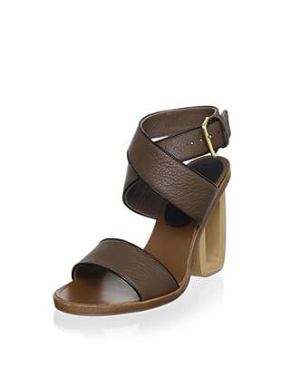 Marni Women's Ankle-Strap Sandal (Cinnamon/Coal)