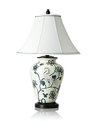 Bungalow 5 Hand-Painted Bird Porcelain Table Lamp (Blue/White)