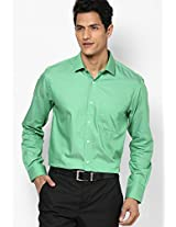 Green Full Sleeve Formal Shirt Peter England