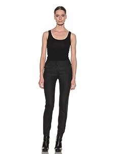 McQ by Alexander McQueen Women's Contrast Detail Trouser (Dark Grey)