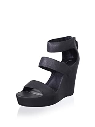 Matiko Women's London Wedge Sandal (Black)